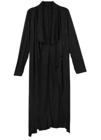 Mode Frauen Oberbekleidung Drape Wasserfall offene vordere Länge lange Strickjacke Mantel
