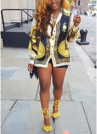 Frauen Shirt African Traditional Dashiki Muster drucken Langarm Casual Tops