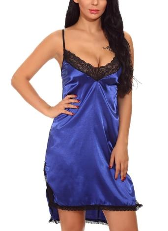 Vestido de satén mujer Slip Chemise camisón de encaje asimétrico dobladillo lencería ropa de dormir pijama