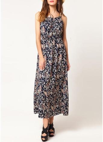 Bohemian Floral Spaghetti Strap Summer Maxi Dress