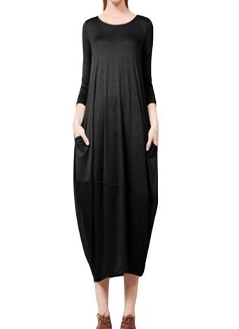 Платье с длинным рукавом с коротким рукавом