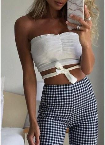 Sommer-Frauen-Art- und Weiseweste-Trägershirt-feste beiläufige ärmellose Verband-Ernte-Oberseiten