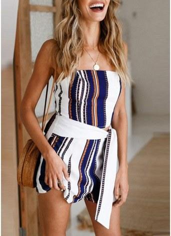 Spaghetti Strap High Waist Summer Short Mini Jumpsuit