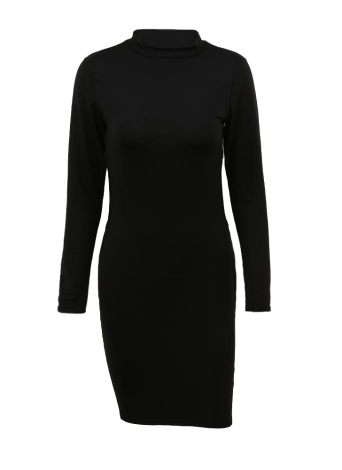 Backless Hollow Out Long Sleeve Bodycon Dress