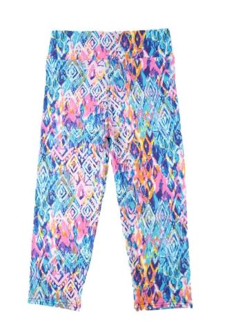 Nouveau mode femmes Capri Leggings taille haute impression Floral recadrée Yoga Pants Fitness Workout pantalon décontracté