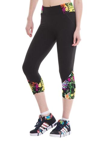Moda mulheres Leggings impressão padrão cintura alta Fitness esportes calças Stretch Yoga cortadas calças