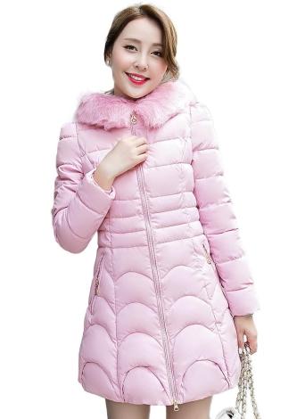 rose m Frauen Daunenkapuzen Padded Jacket Aufsteckkühlkörper