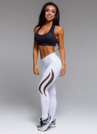 4e1db59de5 Women Sport Yoga Leggings Mesh Splice Solid Stretch Fitness Gym Running  Bodycon Pants