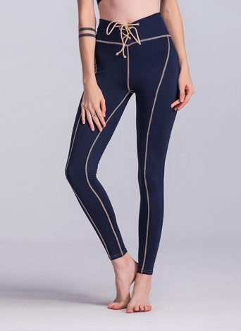 Femmes Yoga Pantalons de sport Leggings Taille haute Collants de course Fitness Workout Skinny Pants