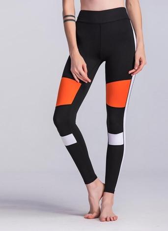 Women Fitness Yoga Pants Sports Color Block Leggings