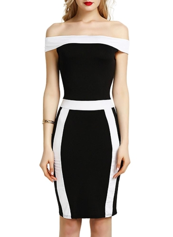 Mulheres Bodycon Off Shoulder Dress