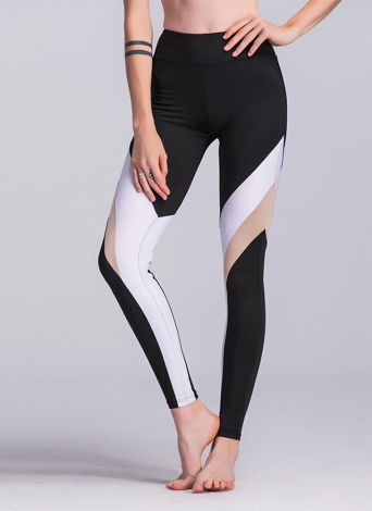 Frauen Sport Yoga Leggings Splice Stretchy Skinny Bodycon Strumpfhosen Hosen