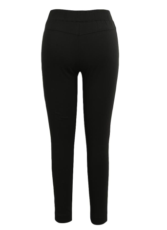Women Pencil Pants Casual Elastic Waist Skinny Trousers Solid Tights Stretch Leggings