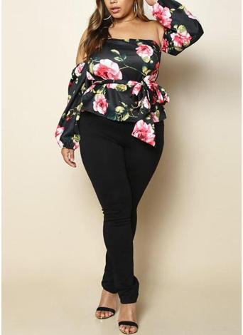Moda donna Plus Size Solid Pencil Pants Elastic Waist Tasche Slim Casual pantaloni lunghi a breve