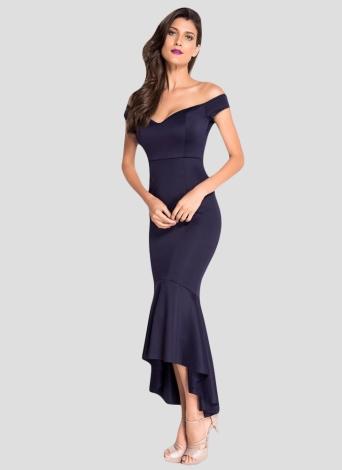 e8888a9e7a8dcd Donne Sexy fuori dal vestito da sera convenzionale di Backless del vestito  dalla spalla