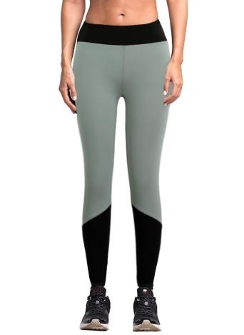 Новые женщины Спорт Йога Леггинсы Цвет сращивания Stretch Фитнес-центр Бег повседневные брюки-футляр Брюки серые