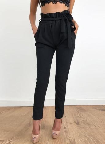 Verano OL alta cintura bolsillos Causal pantalones medias de las mujeres