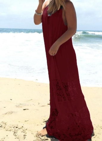 Vestido De Lã De Ladrão De Espaguete De Lace