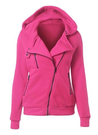 Autumn Winter Long Sleeve Zipper Hooded Coat Women's Hoodies