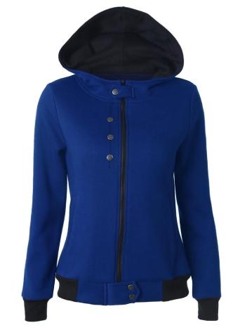 Herbst-Winter-beiläufige lange Hülsen-Taschen-Reißverschluss-Frauen-Kapuzenpullis