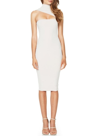 Sexy Solid Cut Out Turtleneck Sleeveless Women's Bodycon Dress