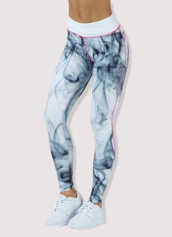 Сексуальные женщины Печать Спортивные поножи Йога Брюки Высокие талии Тренировка Запуск Skinny Slim Fitness Tights