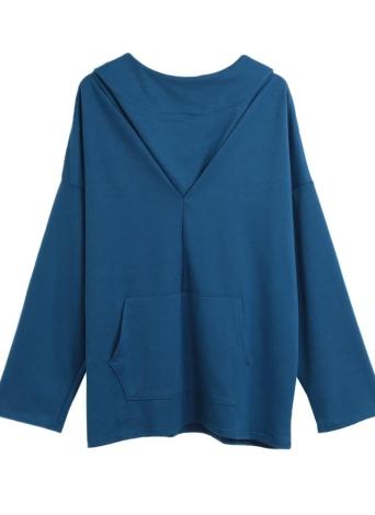 Женская спортивная тренировка Йога Блузка с капюшоном Чехол карманы Толстовка Спортивная одежда Пуловерная верхняя футболка