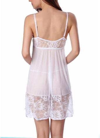 Dessous Frauen Spitze Babydoll Kleid Nachtwäsche Nachtwäsche Unterwäsch G-string
