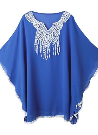 Crochet Lace Cover Up Pompom Casual Elegant Beachwear