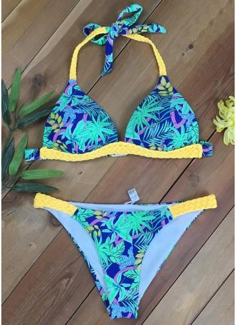 Costumi da bagno donna Costumi da bagno con stampa floreale Bikini Set costumi da bagno Costume due pezzi
