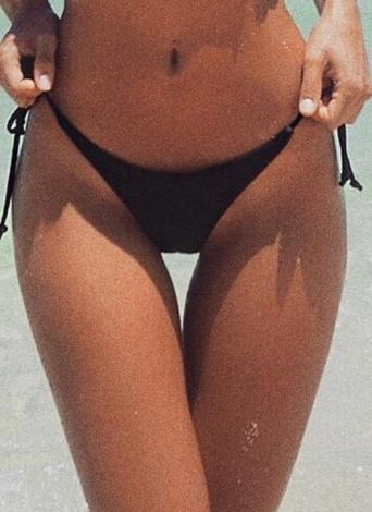 V-Shape Bikini Bottom Tie Side Swim Brief Brazilian Panties