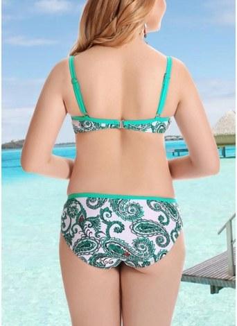 2xl Verde Conjunto De Bikini Traje De Bano De Mujer Tallas Grandes Traje De Bano Con Aros Ropa De Playa De Dos Piezas Chicuu
