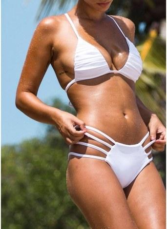 Bikini con stampa floreale a fascia