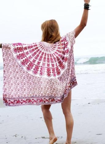 Kimono de playa de chifón de mujer