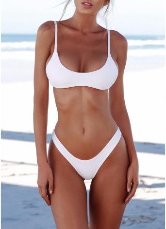 Sexy Frauen Bikini Set Badeanzug Push Up Gepolsterter Bh High Cut Bottoms Bademode Badeanzüge