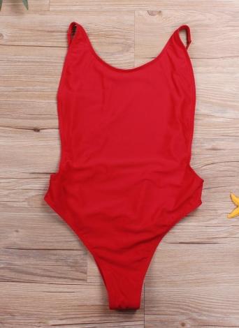 Découpez monokini rembourré à dos ouvert avec une seule pièce