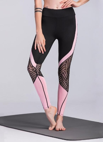 Femmes Sport Leggings Taille Haute Skinny Stretch Gymnase Yoga Pantalon