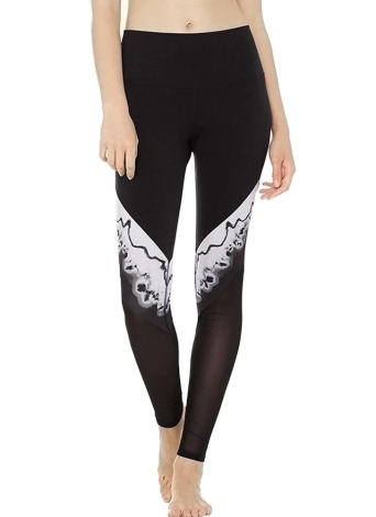 Femmes Sport Yoga Leggings Mesh Epissage Stretchy Skinny Bodycon Pantalons Pantalons