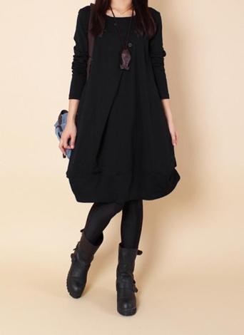 Women Autumn Oversized Midi Dress