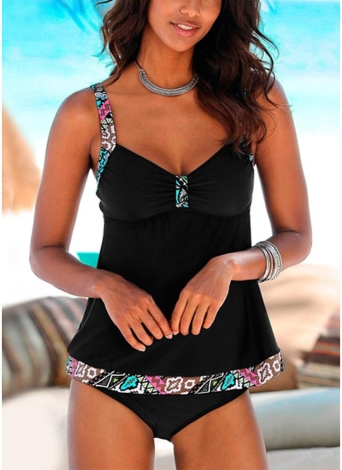 Sweetheart Wirless acolchoado Push Up Strap Sexy Swimwear Suit