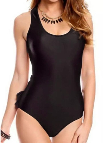 Frauen Badeanzug Backless Rüschen Body Monokini