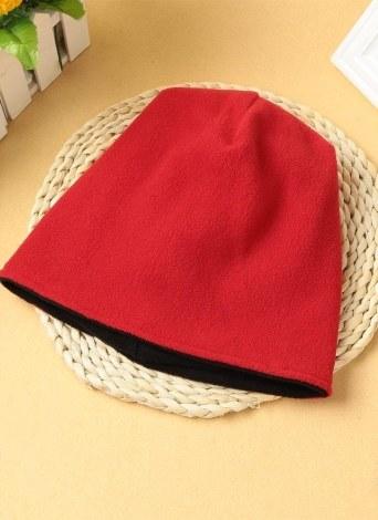 Unisex Fleece Hat Cap Solid Color Beanie