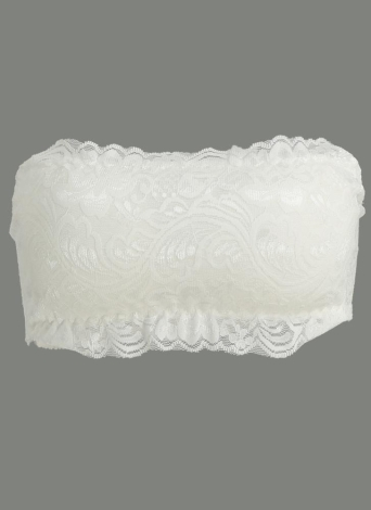 Mulheres Lace sem fio Bra Bandage acolchoado alças ajustáveis Voltar Fina Colheita respirável Bra Top Brassiere Underwear Black / White