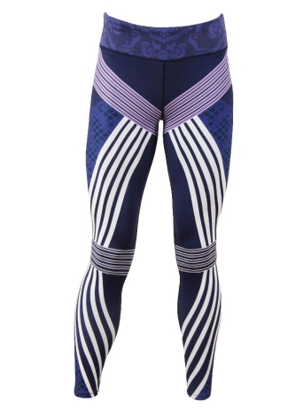 Sexy Women Stripe Stampa Leggings sportivi Yoga Pants Workout Running Skinny Slim Fitness Tights
