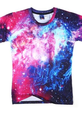 Lose 3D Short Vivid Druckhülse T-Shirt