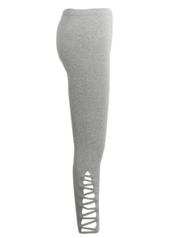 Cut Out Elastic Sports Fitness Leggings
