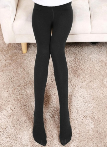 Exy Mulheres Outono Inverno Solid High Elastic Skinny Warm Leggings