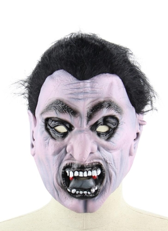 Latex Scary Vampire Mask Full Face Horror Toothy Zombie Masks with Elastic Strap for Halloween Masquerade Costume