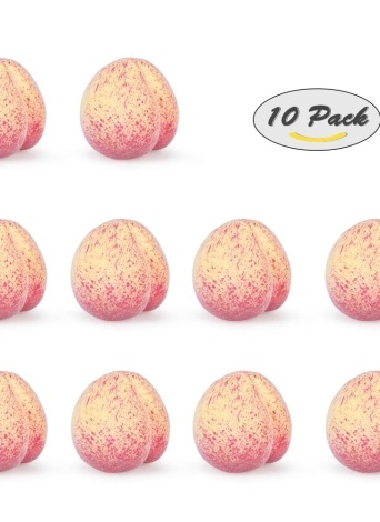 Realistic Fake Peach Artificial Lifelike Fruit House Kitchen Decorations Photography Props--Pack of 10