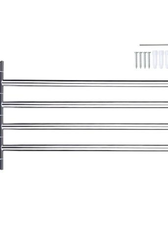 Barra portasciugamani da bar girevole a parete in acciaio inox salvaspazio multifunzionale Porta asciugamani multifunzione da bagno Portasalviette portasalviette
